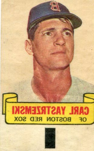 Photo of 1966 Topps Rub-Offs #100 Carl Yastrzemski-- Hall of Famer