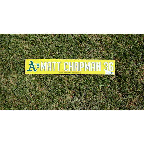Photo of Matt Chapman #36 2016 Team-Issued Locker Nameplate