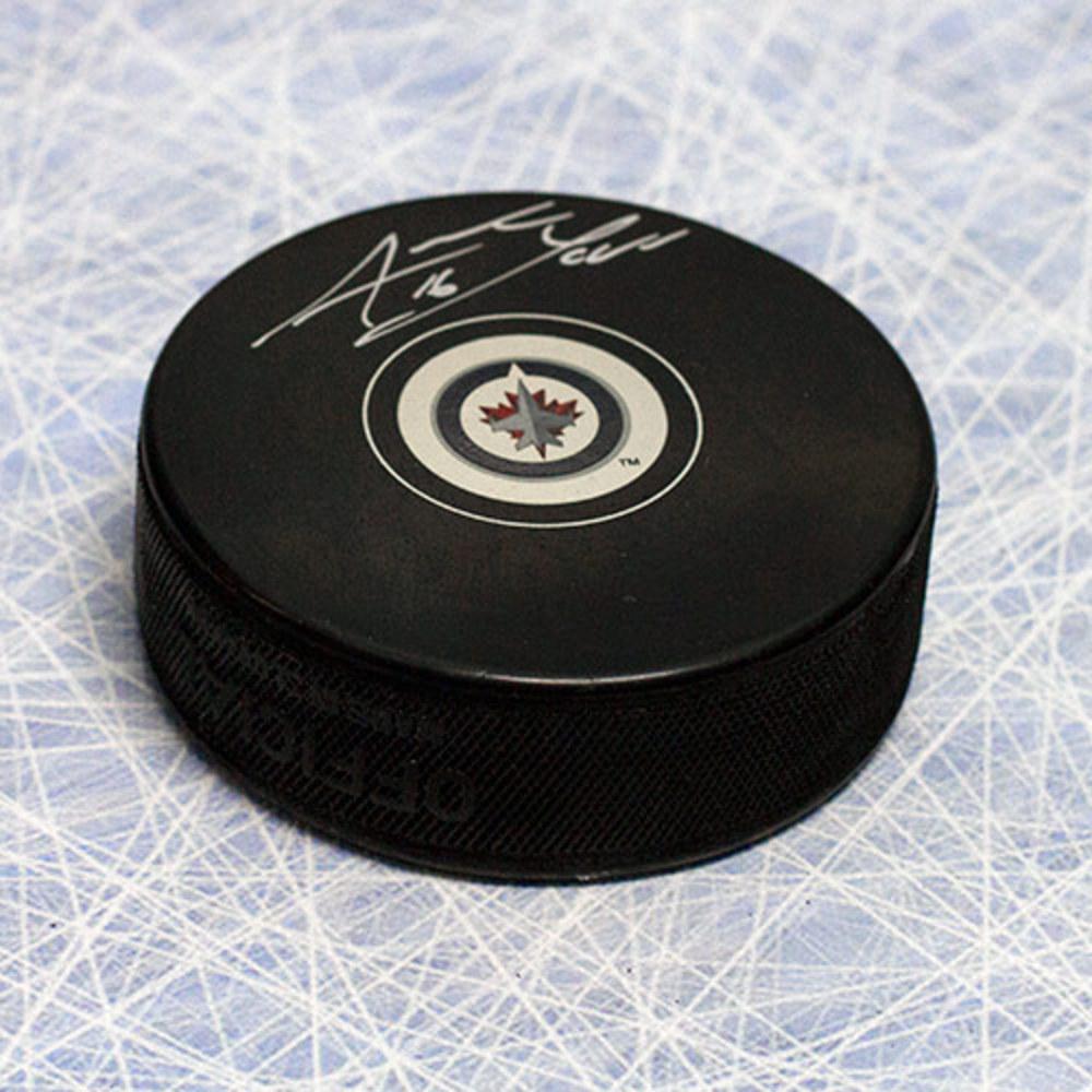 Andrew Laad Winnipeg Jets Autographed Hockey Puck