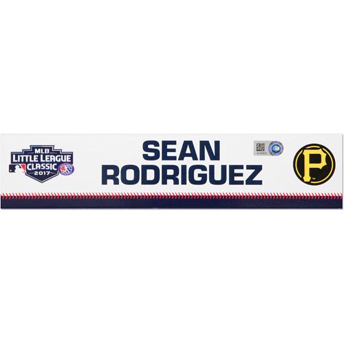 Photo of Pittsburgh Pirates Game-Used Locker Name Plate, Sean Rodriguez #3
