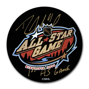 Rick Nash Autographed 2004 NHL All-Star Game Puck w/1ST AS GAME Inscription (New York Rangers)