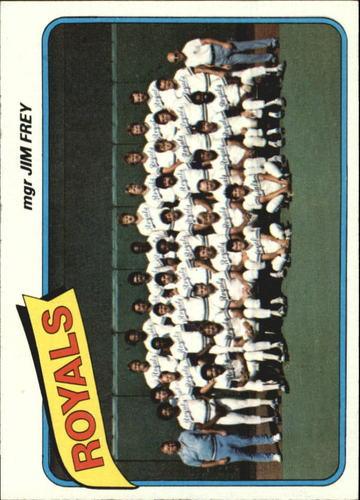 Photo of 1980 Topps #66 Kansas City Royals CL/Jim Frey MG