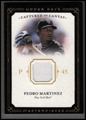 Photo of 2008 UD Masterpieces Captured on Canvas #PM Pedro Martinez