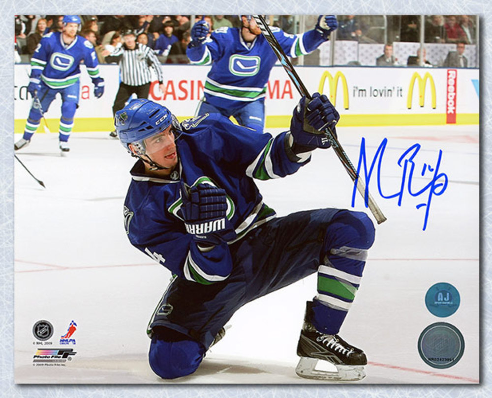 Alexandre Burrows Vancouver Canucks Autographed Goal Celebration 8x10 Photo