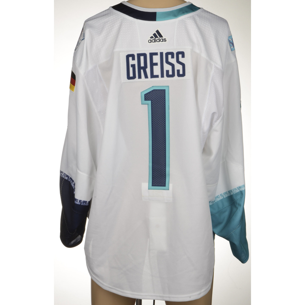 Thomas Greiss New York Islanders Player-Issued 2016 World Cup of Hockey Team Europe Jersey
