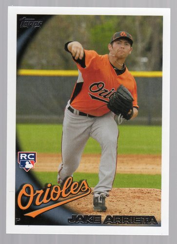 Photo of 2010 Topps Update #US251A Jake Arrieta Rookie Card