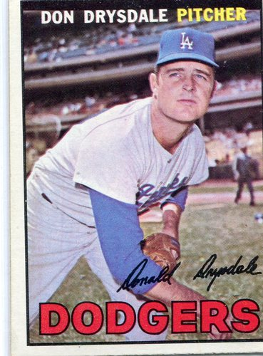 Photo of 1967 Topps #55 Don Drysdale-- Hall of Famer