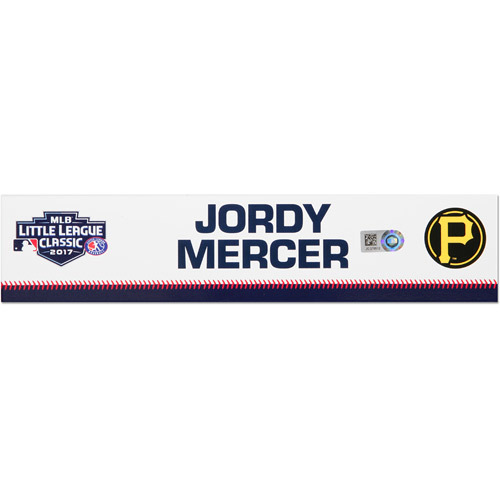 Photo of Pittsburgh Pirates Game-Used Locker Name Plate, Jordy Mercer #10