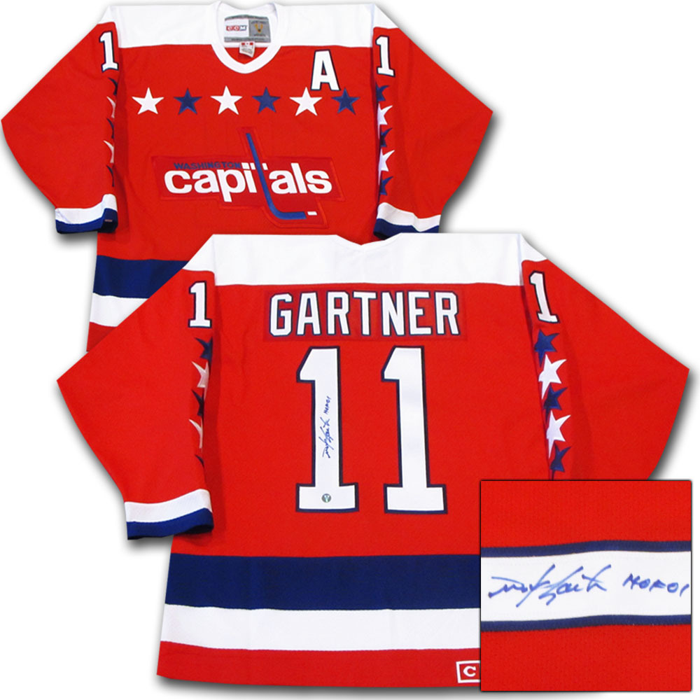 Mike Gartner Autographed Washington Capitals Jersey w/HOF 01 Inscription