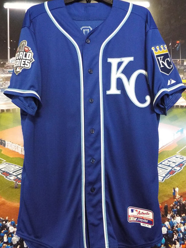 Photo of Club Issued Miguel Almonte Blue 2015 World Series Jersey