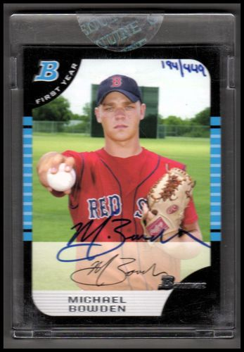Photo of 2006 Bowman Originals Buyback Autographs #631 Michael Bowden 05 BDP/449 D