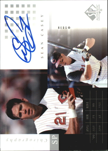 Photo of 2000 SP Authentic Chirography #SC Sean Casey
