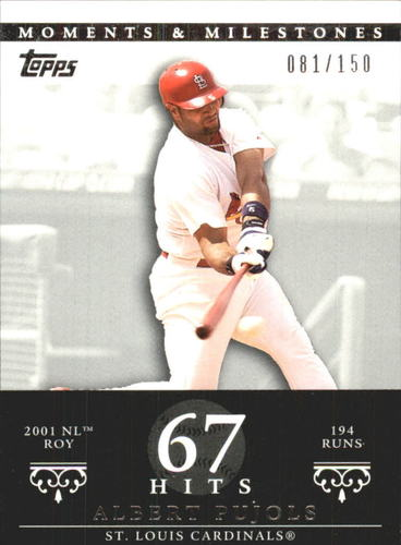 Photo of 2007 Topps Moments and Milestones #3-67 Albert Pujols/Hit 67