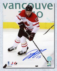 Dany Heatley Team Canada Autographed 2010 Olympic Hockey 8x10 Photo