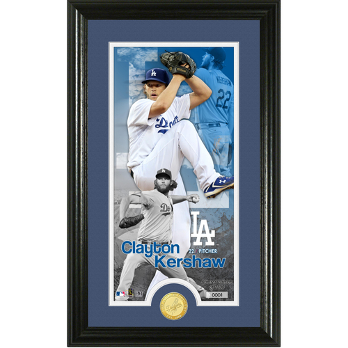 Photo of Clayton Kershaw Supreme Bronze Coin Photo Mint