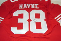 49ERS - JARRYD HAYNE SIGNED AUTHENTIC 49ERS JERSEY - SIZE 40