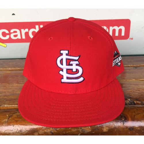 Photo of Cardinals Authentics: Carlos Villanueva Home Red 2015 Postseason Cap