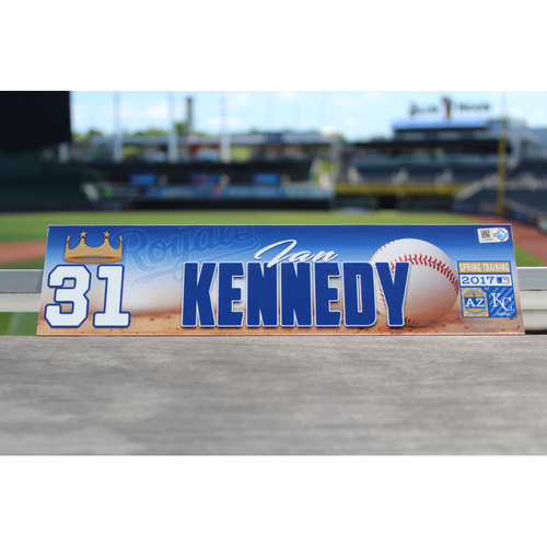 Photo of Ian Kennedy Team-Issued Spring Training Locker Name Plate