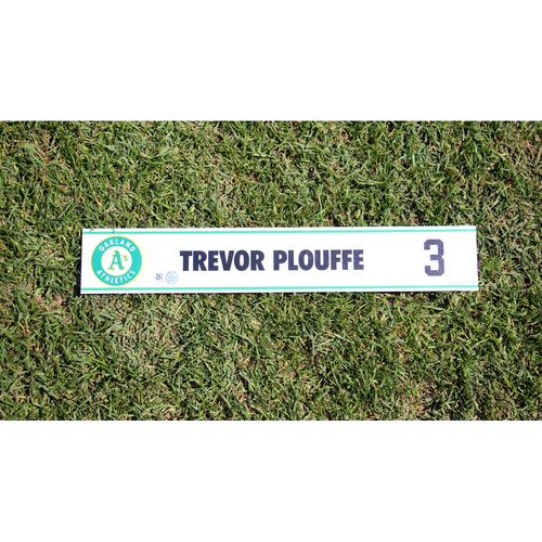 Photo of Trevor Plouffe #3 2017 Spring Training Locker Nameplate