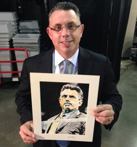 Michael Cole Signed Painting by Rob Schamberger