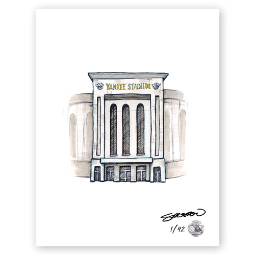 Photo of Yankee Stadium Sketch - Limited Edition Print 1/42 by S. Preston