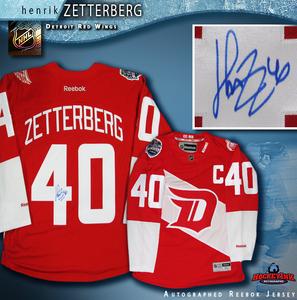HENRIK ZETTERBERG Signed Detroit Red Wings Stadium Series 2016 Red Reebok Jersey
