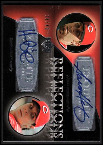 Photo of 2007 Exquisite Collection Rookie Signatures Reflections Autographs #AH Aaron Harang/Homer Bailey/40