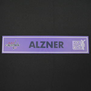 Karl Alzner - Washington Capitals - 2015-16 Hockey Fights Cancer Locker Room Nameplate