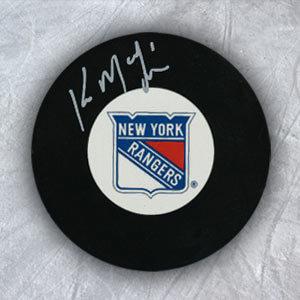 Kirk McLean New York Rangers Autographed Hockey Puck