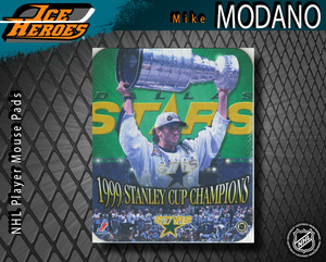 MIKE MODANO Dallas Stars 1999 Stanley Cup Champions Mouse pad - New in Plastic