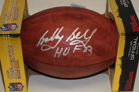 HOF - CHIEFS BOBBY BELL SIGNED AUTHENTIC FOOTBALL