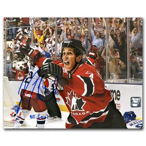 Vincent Lecavalier Autographed Team Canada 2004 World Cup 8X10 Photo w/OT GOAL Inscription (Philadelphia Flyers)