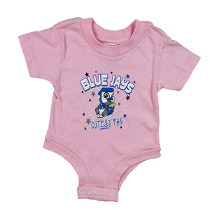 Infant Ace Cutest Fan Pink Onesie by Kiddy Katz