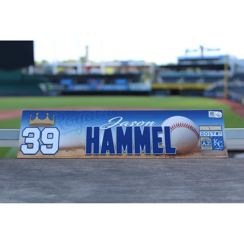 Photo of Jason Hammel Team-Issued Spring Training Locker Name Plate