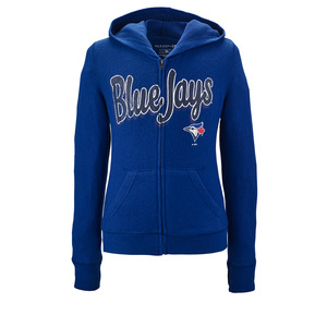 Toronto Blue Jays Youth Kathleen Fleece Full Zip Hoody by 5th & Ocean