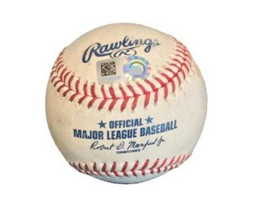 Game-Used Baseball from Pirates vs. Tigers on 8/7/17 - Marte Fly Out, Harrison Single, McCutchen K Looking, 1 Pitch to Bell