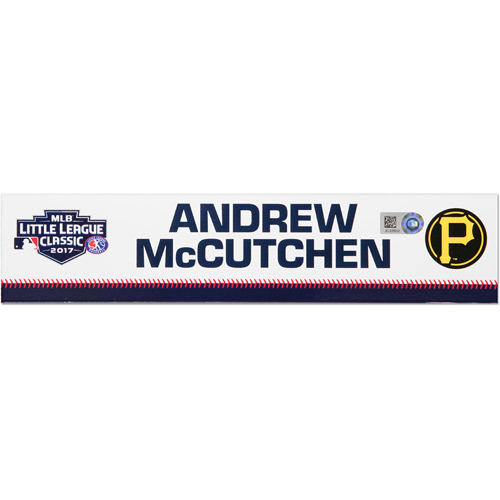 Photo of Pittsburgh Pirates Game-Used Locker Name Plate, Andrew McCutchen #22