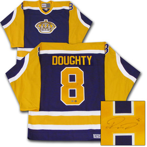 Drew Doughty Autographed Los Angeles Kings Vintage Jersey