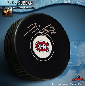 P.K. SUBBAN Signed Montreal Canadiens Puck