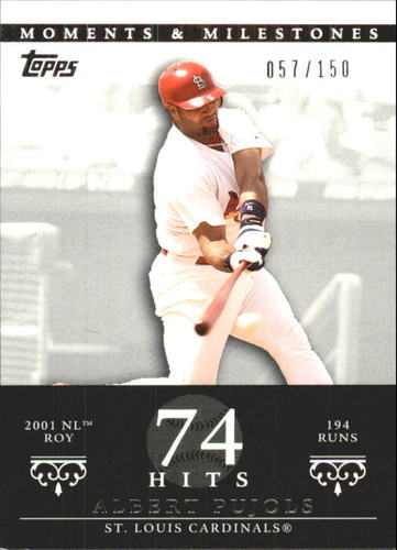 Photo of 2007 Topps Moments and Milestones #3-74 Albert Pujols/Hit 74