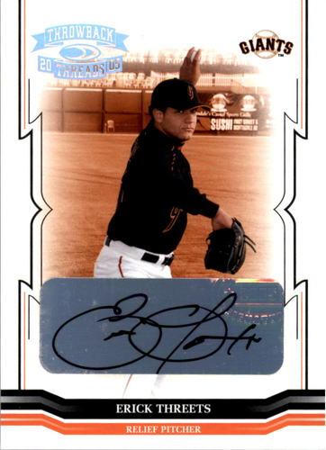 Photo of 2005 Throwback Threads Signature Marks #230 Erick Threets/500