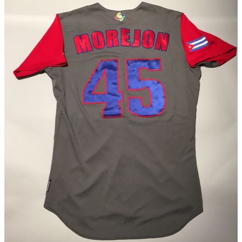 Photo of 2017 WBC: Cuba Game-Used Road Jersey, Morejon #45