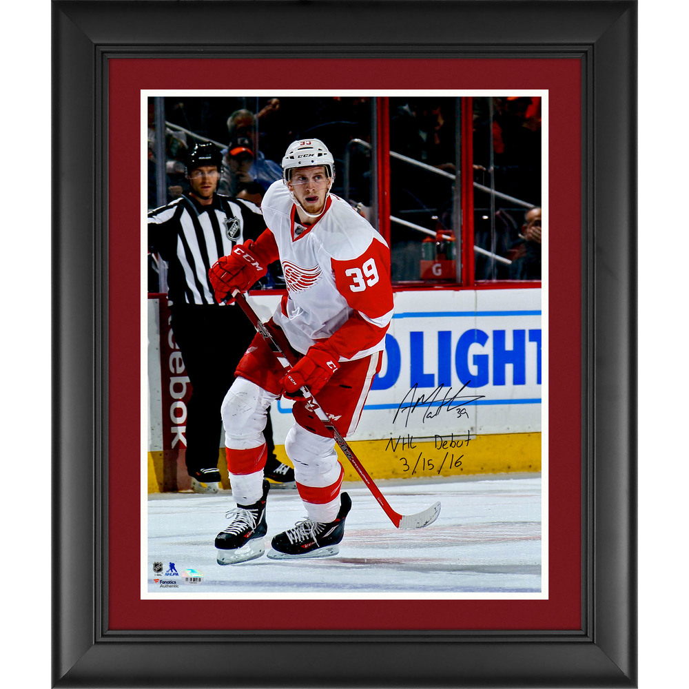 Anthony Mantha Detroit Red Wings Framed Autographed 16