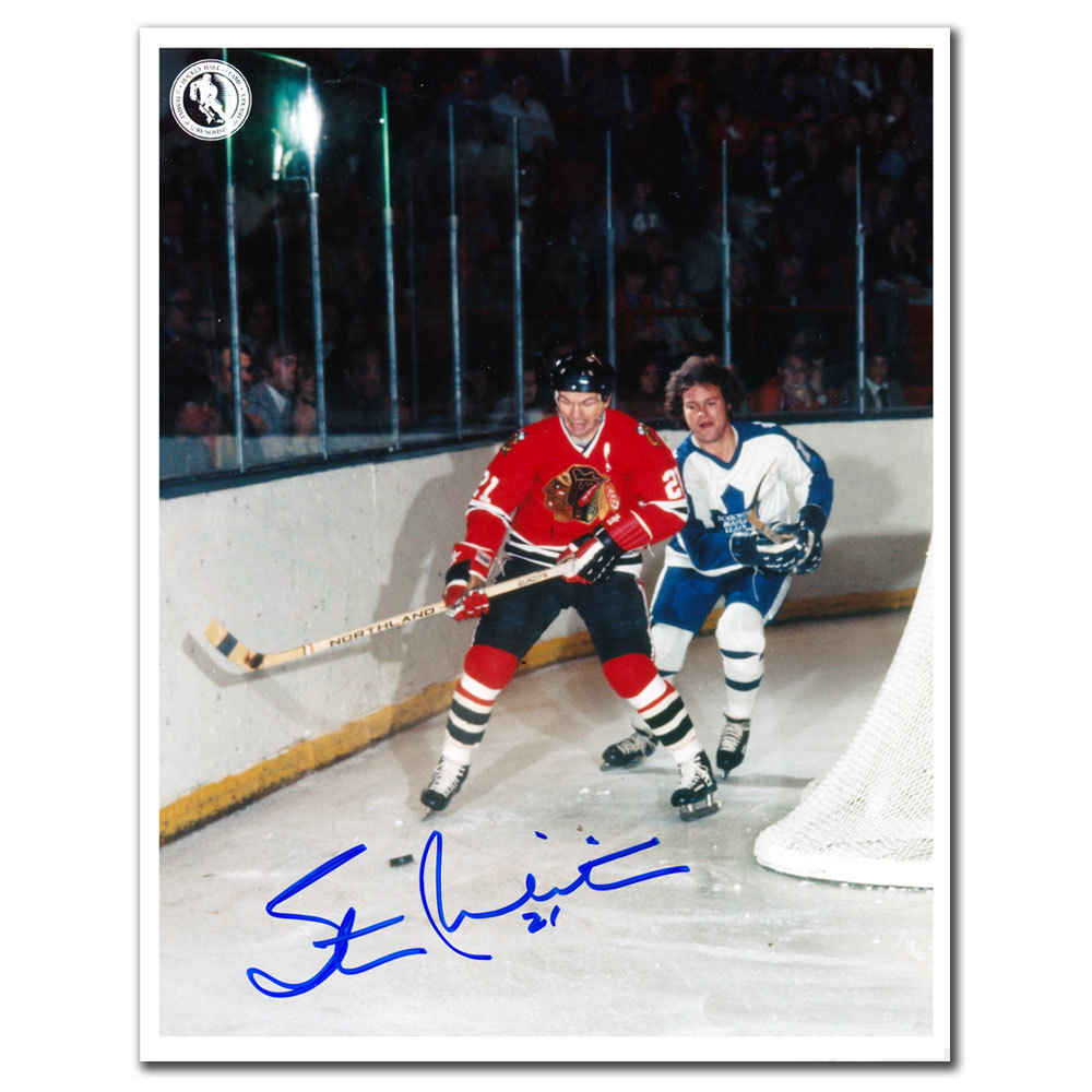 Stan Mikita Chicago Blackhawks vs. Maple Leafs Autographed 8x10