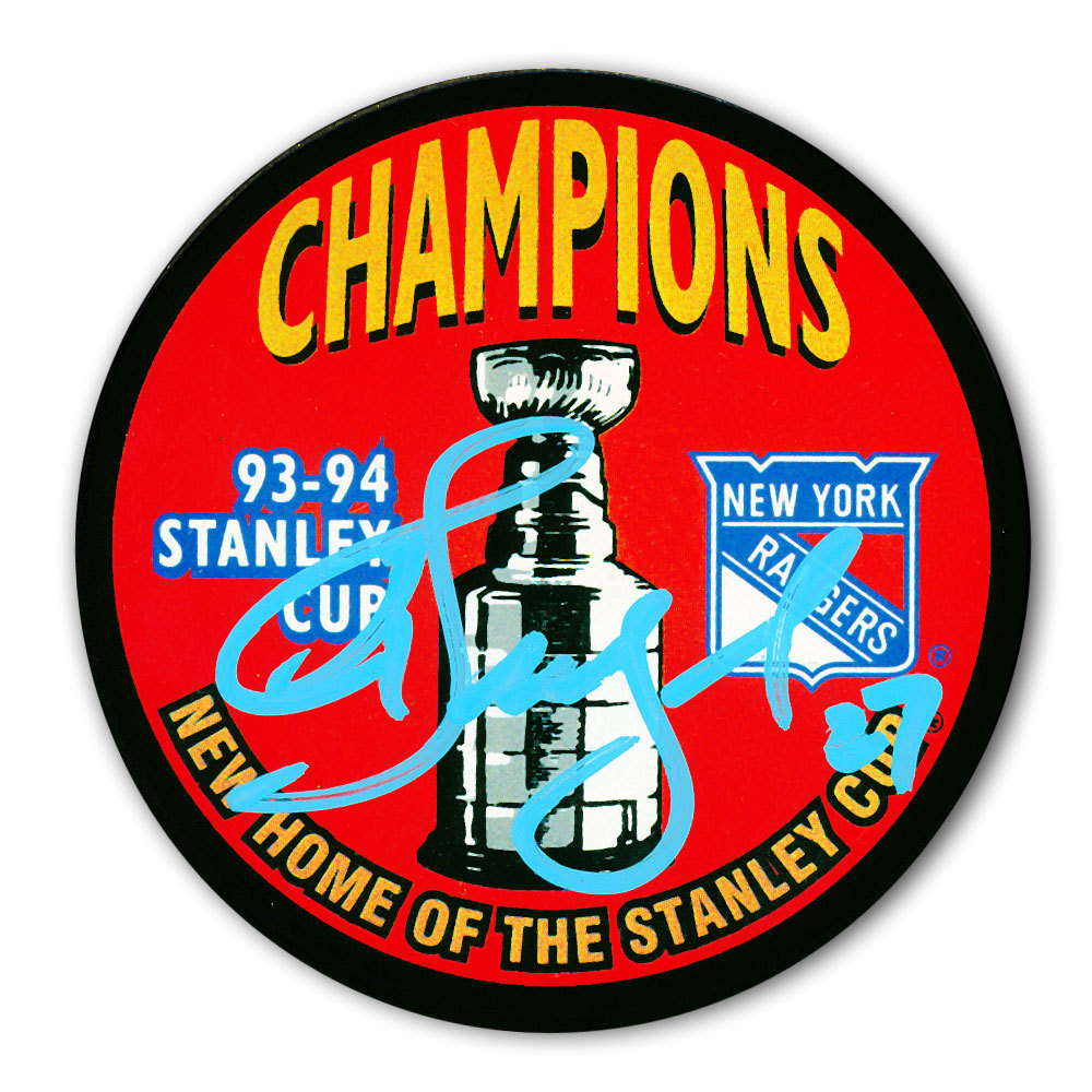 Alex Kovalev New York Rangers 1994 Stanley Cup Champions Autographed Puck