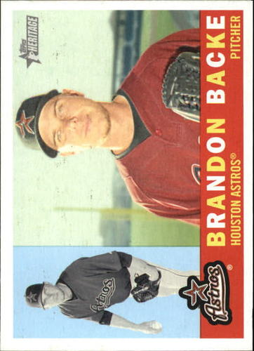 Photo of 2009 Topps Heritage #46 Brandon Backe