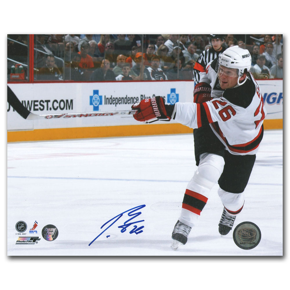 Patrik Elias Autographed New Jersey Devils 8X10 Photo