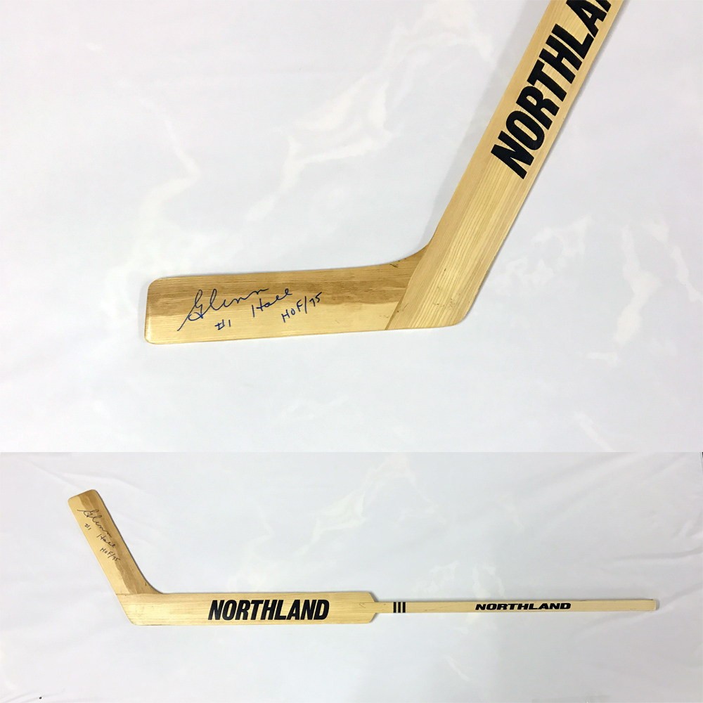 GLENN HALL Signed Northland Goalie Stick