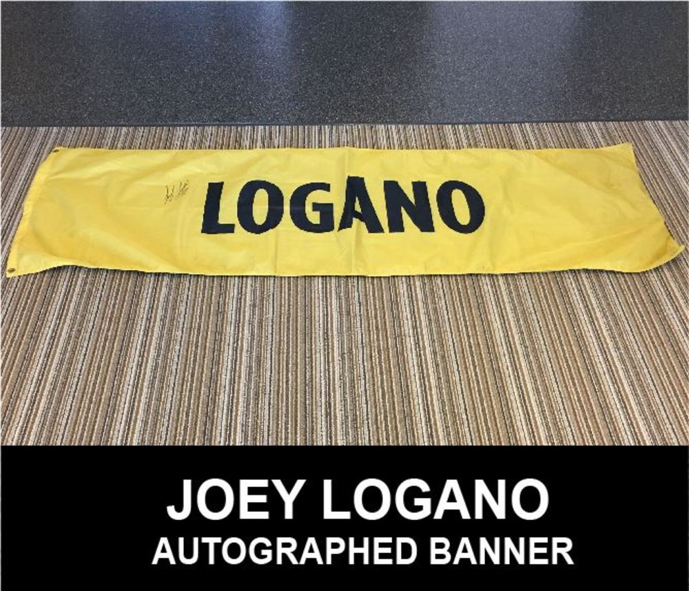 Joey Logano Autographed #20 NASCAR Sprint Cup Chase Name Banner