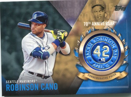 Photo of 2017 Topps Jackie Robinson Logo Patches #JRPCRC Robinson Cano